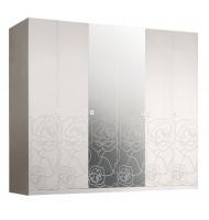 Шкаф 6-и дв. с зеркалами для платья и белья
